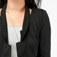 Crop Rock Blazer in Black :: tobi
