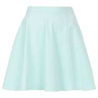 Mint Baby Cord Skater Skirt - Skirts - Clothing - Topshop USA