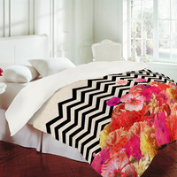 DENY Designs Home Accessories | Bianca Green Chevron Flora 2 Duvet Cover