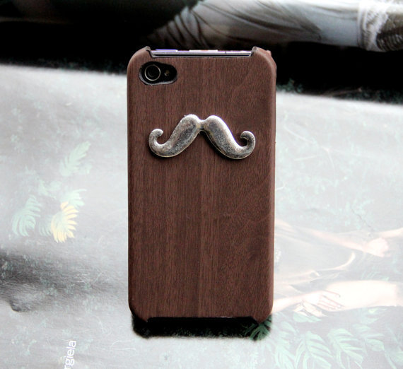 Silver mustache Iphone Case iPhone 4 Case