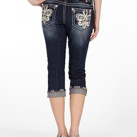 Miss Me Easy Rhinestone Stretch Cropped Jean - Women's Crops | Buckle