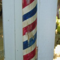 Antique Replica Handcrafted Barber Pole by by mikesbarberpoles
