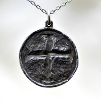 Ancient Hope Coin Cross Pendant in by JohnCarpenterJeweler