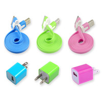 6pcs/Lot!3PCS Charging Cable Cord 3PCS USB Power Adapter Charger Iphone 4/4s