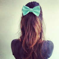 mint big hair bow SN007 by colordrop on Etsy