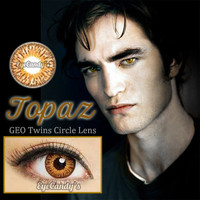 Edward Cullen Topaz circle lens GEO colored contacts cosmetic fashion lenses | EyeCandy&#x27;s