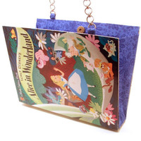 Alice In Wonderland Book Purse Clutch made from Upcycled Little Golden Book