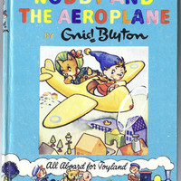 Noddy and the Aeroplane Airplane (24) by Enid Blyton, includes golliwog, hardcover