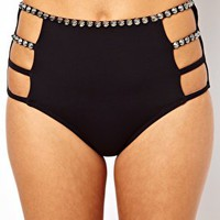 ASOS Studded Longline Bikini at asos.com
