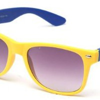 Amazon.com: 80's Classic Blue Brothers Soft Touch Colored Wayfarer Styles Vintage Retro Sunglasses in Yellow/Blue: Shoes