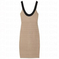 Bqueen Scoop-Neck Bandage Dress H021X