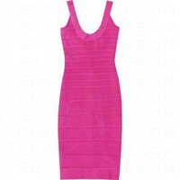 Bqueen Tank Scoop Neck Pink Bandage Dress H021F1