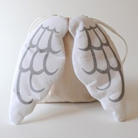 Dress Up Angel Drawstring Backpack by Merah Muda