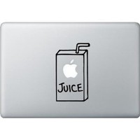"Apple Juice Box Vinyl Macbook Funny Design Vinyl Decal Sticker 3"" X 5.5"""