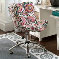Suzani Glove Swivel Chair