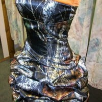 'Bobbi' Custom CAMO Prom Wedding Bridesmaids Pick Up Bubble Skirt Short Dress