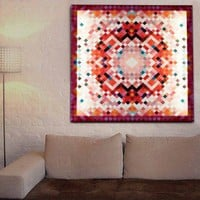 Pixel Tapestry Glo Canvas from Duffy London | Made By Duffy London | £205.00 | Bouf