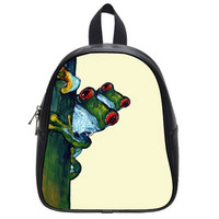 Frog Backpack Mamas Little Passenger by HeavenlyCreaturesArt