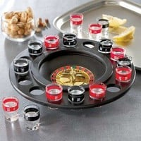 Shot Glass Roulette - Drinking Game Set (2 Balls and 16 Glasses): Kitchen & Dining