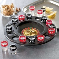 Shot Glass Roulette - Drinking Game Set (2 Balls and 16 Glasses): Kitchen &amp; Dining