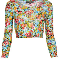 **Long Sleeve Crop Top by Love - Tops - Clothing - Topshop
