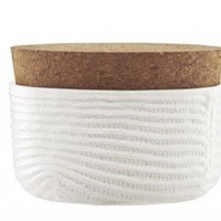 Mormor Ribbed Sugar Bowl w/cork