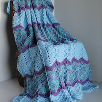 Small Ripple Blanket / Lapghan / Toddler / Baby Afghan