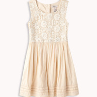 Crocheted Fit &amp; Flare Dress | FOREVER 21 - 2046521121