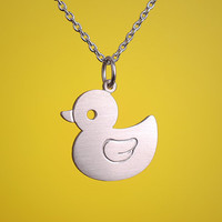 Ducky Necklace by marymaryhandmade on Etsy