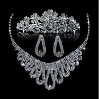 [36.99] Glamorous First Class Austrian Diamonds & Twinkling Rhinestones & Alloy Necklace & Earrigs & Tiara For Your Fabulous Wedding Dress - Dressilyme.com