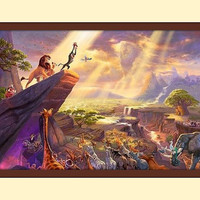 Double Matted Thomas Kinkade Disney The by TreasureChestShoppe
