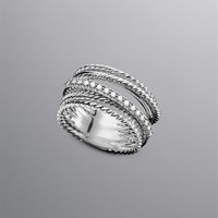 David Yurman | David Yurman Rings for Women | DavidYurman.com | Crossover Ring, Pave Diamonds