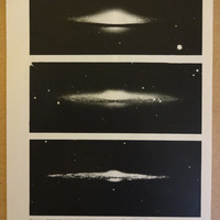 1950's Original Galaxy Space Vintage Astronomy Planet Astrology Print