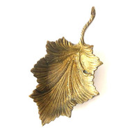 Brass Vintage Tray - Leaf - Ashtray