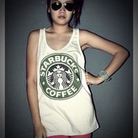 STARBUCKS Tank Top Shirt T-Shirt Women & Men Unisex Size S , M , L , XL