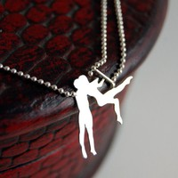 MADE TO ORDER - Circus Love Sterling Silver Trapeze Artists by Markhed
