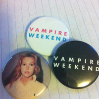 "Vampire Weekend Contra 1.5"" Pinback Buttons Set of Three"