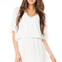 Barkley Dress in Ivory - ShopSosie.com