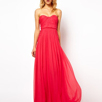 Mango Silk Strapless Dress