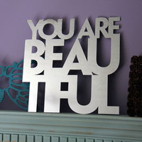 You Are Beautiful Mirror by MixedMangos on Etsy