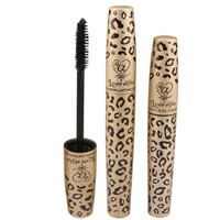 Vakind Pack of 2 Black Fiber Leopard Long Curling Eye Lashes Mascara Eyelash Mascara Set