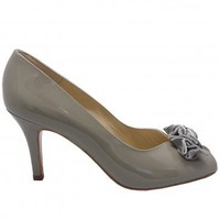Peter Kaiser Samoa | Grey patent peep toe shoes | Mid heel