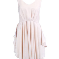 Backless Nude Shift Dress [NCSKD0065] - $26.00 :
