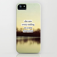 she saw every ending as a new beginning iPhone Case by Beverly LeFevre | Society6