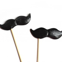 Black Mustache On A Stick Set Of 2 on Luulla