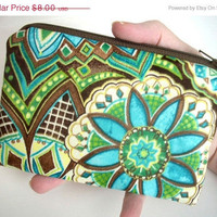 MOVING SALE Blue Mosaic Little Zipper pouch Coin by JPATPURSES