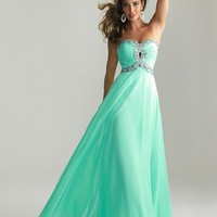 Stunning A-line Sweetheart Floor Length Prom Dress with Rhinestones