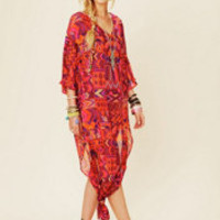 Mara Hoffman Long Chiffon Poncho Dress at Free People Clothing Boutique