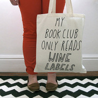 Book wine Club Tote Bag copyright by Joyofexfoundation on Etsy