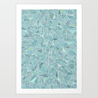 Pastel Diamond Art Print by Anita Ivancenko